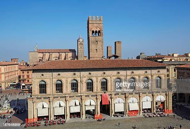 The 'Palazzo del Podesta' in Piazzo Maggiore