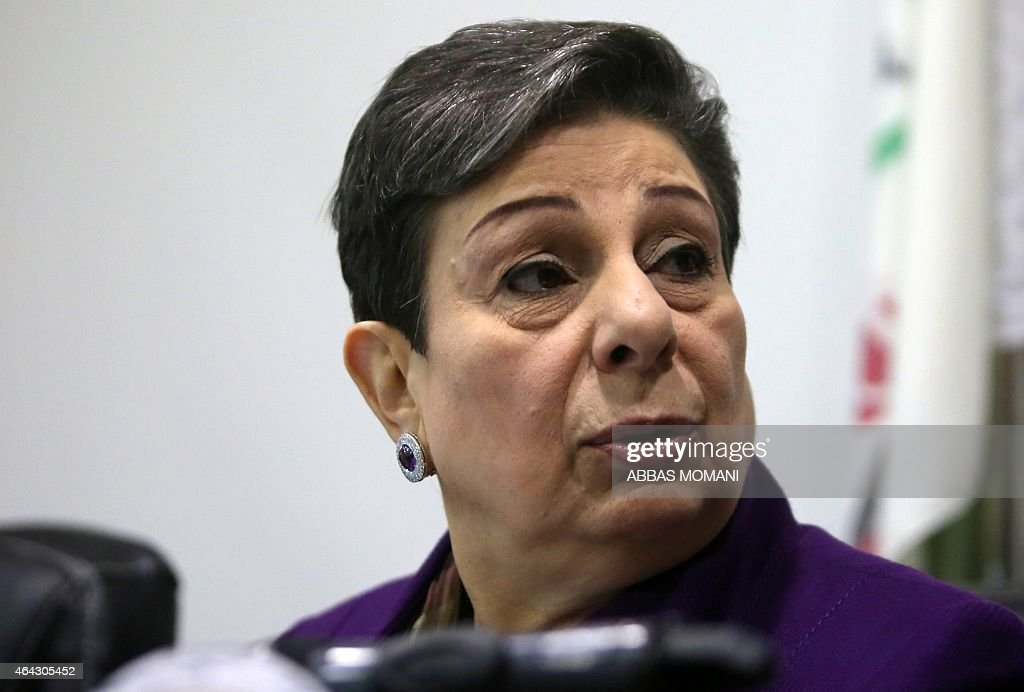The Palestine Liberation Organisation (PLO) executive committe member, <a gi-track='captionPersonalityLinkClicked' href=/galleries/search?phrase=Hanan+Ashrawi&family=editorial&specificpeople=224697 ng-click='$event.stopPropagation()'>Hanan Ashrawi</a> speaks during a press conference on February 24, 2015 in the West Bank city of Ramallah, a day after a verdict of a New York court was issued finding the Palestinian leadership responsible for six deadly attacks in Jerusalem that killed Americans. In a verdict issued late on February 23, a US jury found the Ramallah-based Palestinian Authority and the PLO responsible for six attacks which killed 33 people and wounded more than 390 others between January 2002 and January 2004.