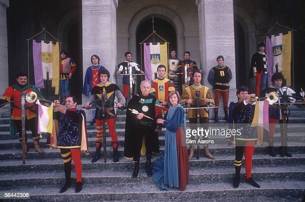 The Palio della Balestra Antica in San Marino a medieval pageant staged each year to celebrate the anniversary of the Republic's foundation September...