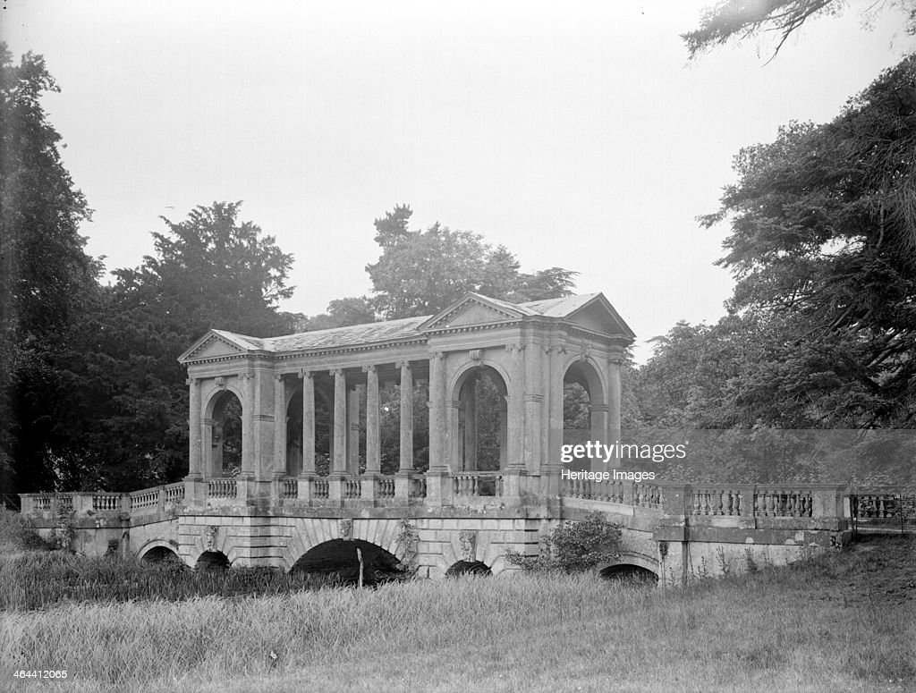 The Palladian Bridge At Stowe, Buckinghamshire, 1928. Covered Bridge Over  The Upper River