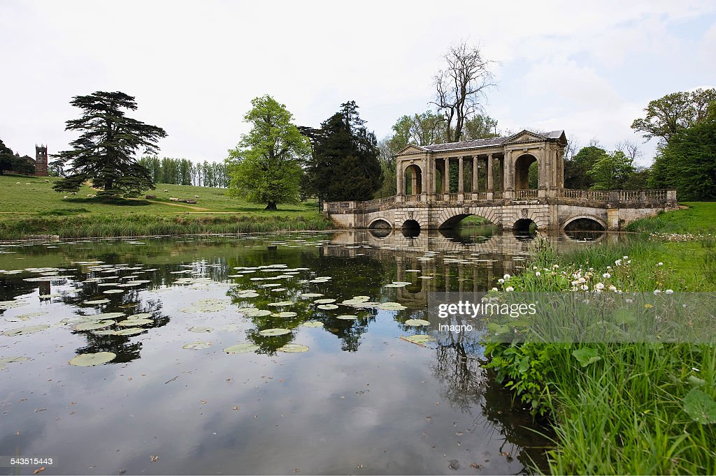 The Palladian Bridge In The Landscaped Garden Of Stowe House. About 2000.  (Photo