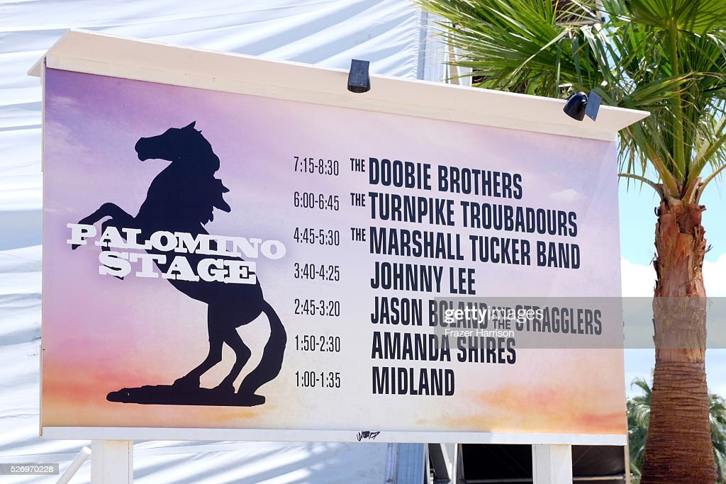 The Palomino stage lineup is seen during 2016 Stagecoach California's Country Music Festival at Empire Polo Club on May 01, 2016 in Indio, California.