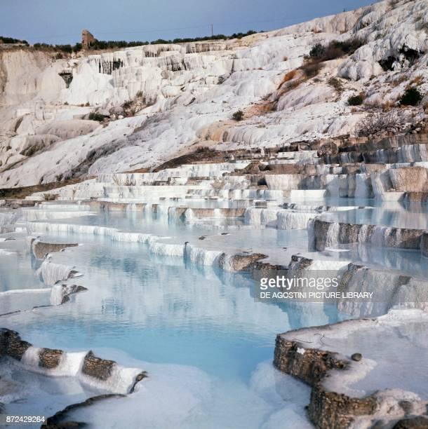 The Pamukkale thermal pools Southwestern Turkey