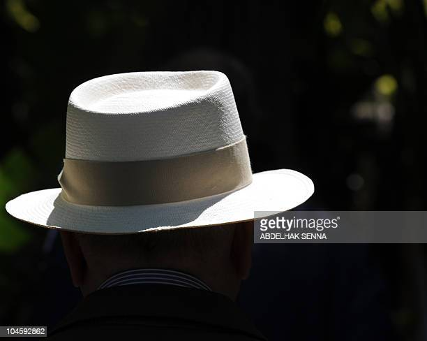 The Panama hat of the lifelong professional and personal companion of iconic French fashion designer Yves Saint Laurent Pierre Berge is pictured on...