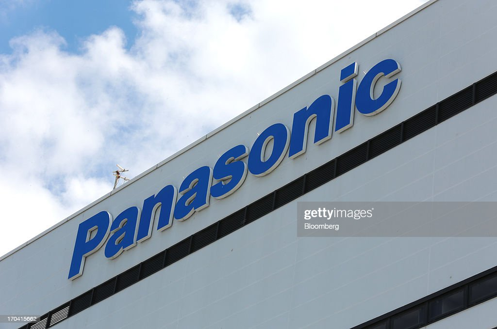 The Panasonic Corp. logo is displayed atop the company's plant in Kobe City, Hyogo Prefecture, Japan, on Tuesday, June 11, 2013. Panasonic manufactures electric and electronic products. Photographer: Yuriko Nakao/Bloomberg via Getty Images