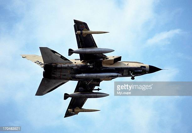 The Panavia Tornado is a jet engine fighterbomber jointly developed as the multirole combat aircraft or MRCA Paris Air Show France