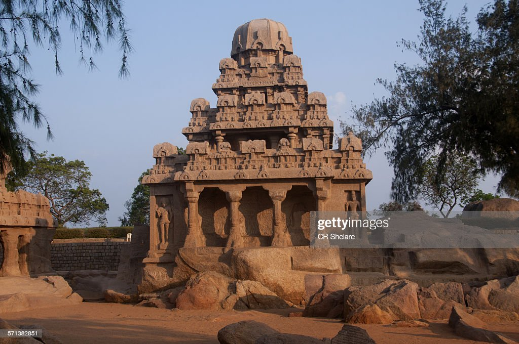 The Panch Rathas Temple, Mamallapuram, India