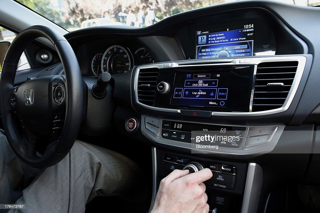 Demonstration Of The New Pandora Operation In A Honda Vehicle Getty Images