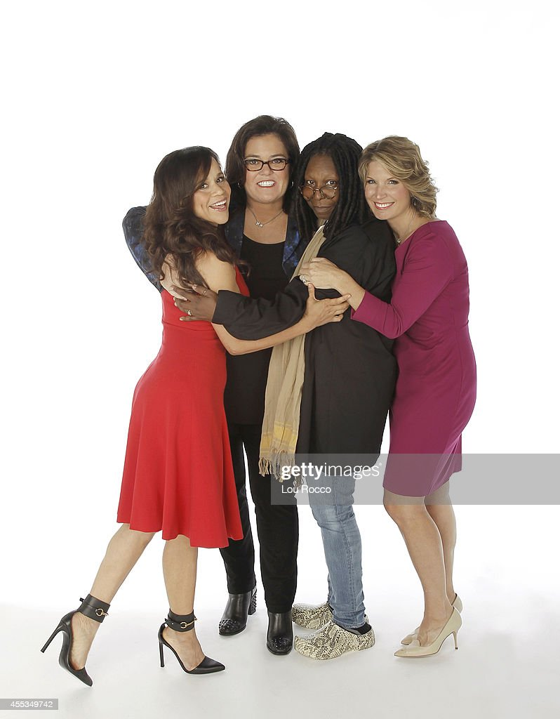 THE VIEW - The panel is now complete. Rosie Perez and Nicolle Wallace are the new co-hosts of 'The View' joining moderator Whoopi Goldberg and Rosie ODonnell. The new season will be unlike any in recent history and premieres live on MONDAY, SEPTEMBER 15 (11:00 a.m. - 12:00 noon, ET) on the ABC Television Network. 'The View' airs Monday-Friday (11:00 am-12:00 pm, ET) on the ABC Television Network. (Photo by Lou Rocco/ABC via Getty Images) ROSIE PEREZ, ROSIE O'DONNELL, WHOOPI GOLDBERG, NICOLLE WALLACE
