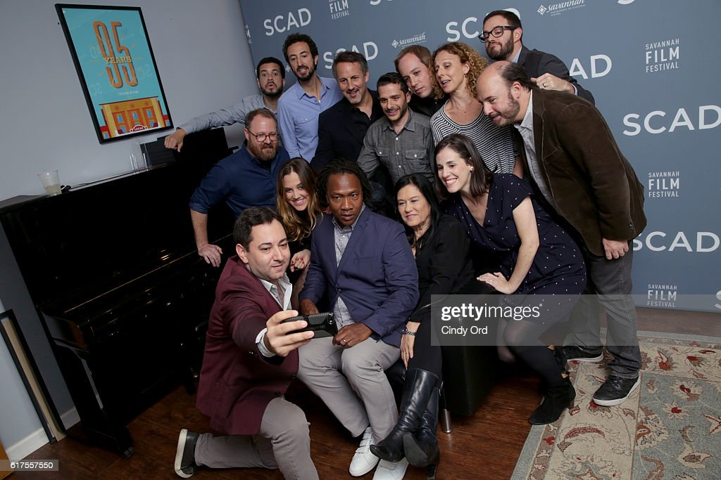 The panel members pose for a selfie backstage during the Docs to Watch Panel during the 19th Annual Savannah Film Festival presented by SCAD on October 23, 2016 in Savannah, Georgia.