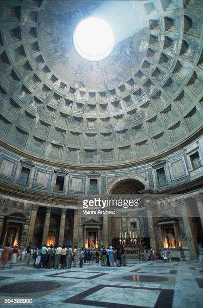 The Pantheon in Rome: Interior of Dome