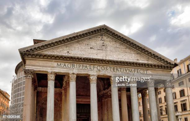 The Pantheon is seen at Piazza della Rotonda square on October 31 2017 in Rome Italy Rome is one of the most popular tourist destinations in the World