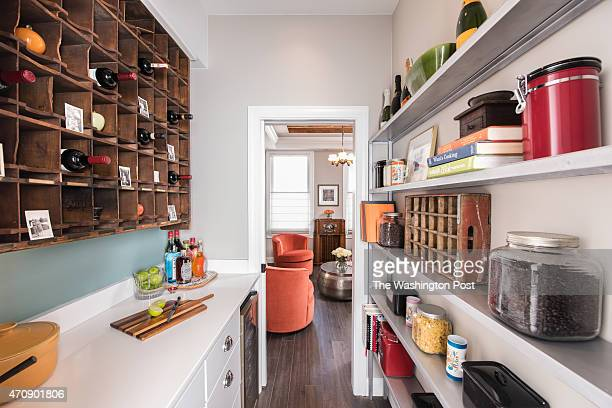The pantry of Cari Shane's renovated row house which has been extensively remodeled and updated 2015