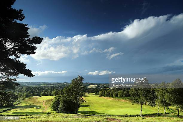 The par 3 11th hole and the par 5 10th holes on the Old Course at The Royal Ashdown Forest Golf Club on July 11 in Forrest Row Sussex England