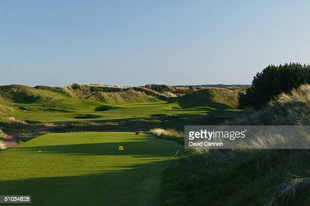 The par 3 12th hole at Royal Birkdale Golf Club on April 21 2004 in Birkdale England