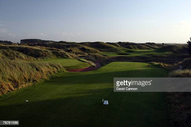 The par 3 12th hole at Royal Birkdale Golf Club venue for the 2008 Open Championship on October 9 2007 in Southport England