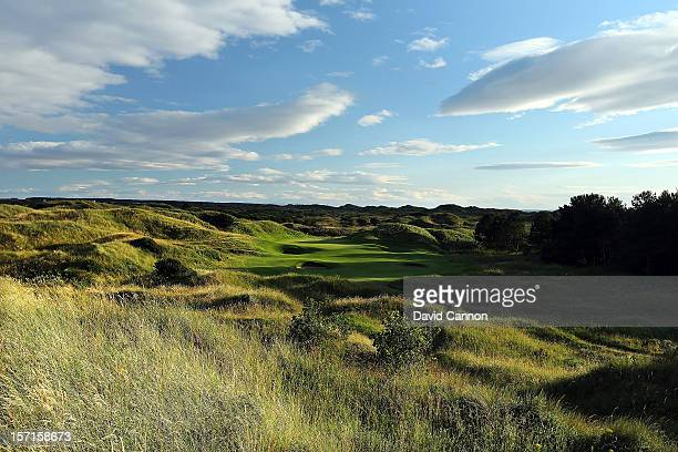 The par 3 12th hole at The Royal Birkdale Golf Club on August 23 in Southport Merseyside England