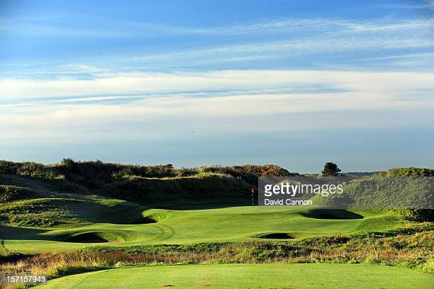 the par 3 12th hole at The Royal Birkdale Golf Club on September 22 in Southport Merseyside England