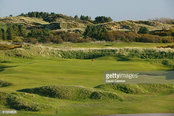 The par 3 14th green at Royal Birkdale Golf Club on April 21 2004 in Birkdale England