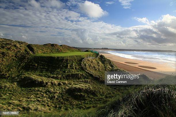 AUGUST 18 The par 3 14th hole at Doonbeg Golf Club on August 18 2010 in Doonbeg Co Clare Republic of Ireland