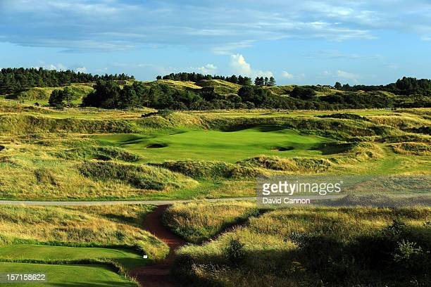 The par 3 14th hole at The Royal Birkdale Golf Club on August 23 in Southport Merseyside England