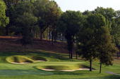 The par 3 14th hole at Valhalla Golf Club venue for the 2008 Ryder Cup Matches on October 2 2007 in Louisville Kentucky