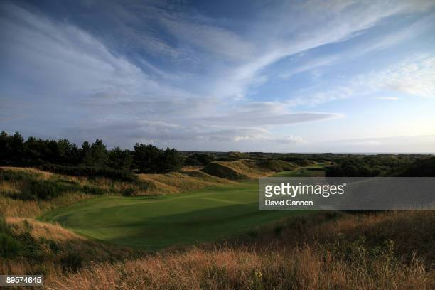 The par 3 16th hole at Hillside Golf Club on August 1 2009 in Birkdale England