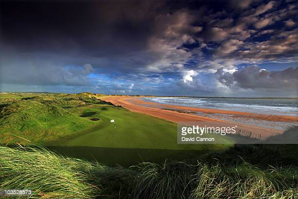 AUGUST 18 AUGUST 18 AUGUST 18 The par 3 9th hole at Doonbeg Golf Club on August 18 2010 in Doonbeg Co Clare Republic of Ireland