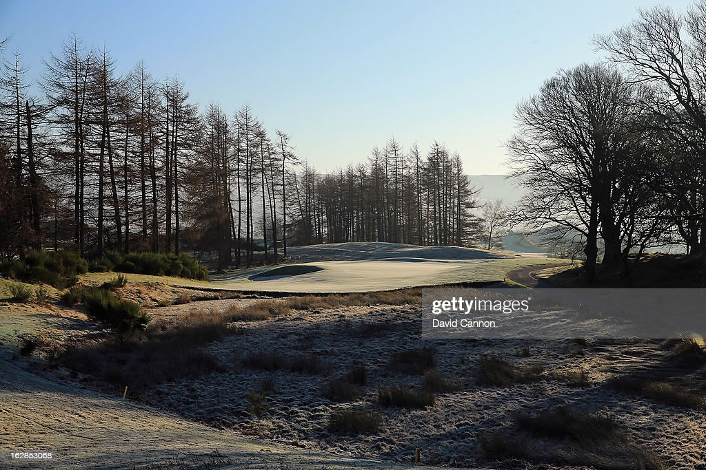 The par 3, sixth hole on the PGA Centenary Course at the Gleneagles Hotel venue for the 2014 Ryder Cup Matches on February 27, 2013 in Auchterarder, Scotland.