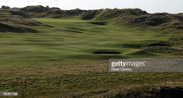The par 4 10th hole at Royal Birkdale Golf Club venue for the 2008 Open Championship on October 9 2007 in Southport England