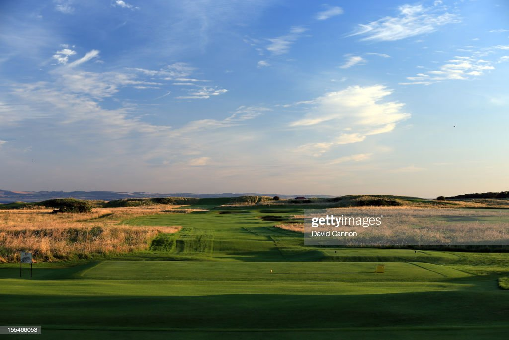 The par 4 10th hole at The Honourable Company of Edinburgh Golfers at Muirfield on August 31 in Gullane Lothian Scotland