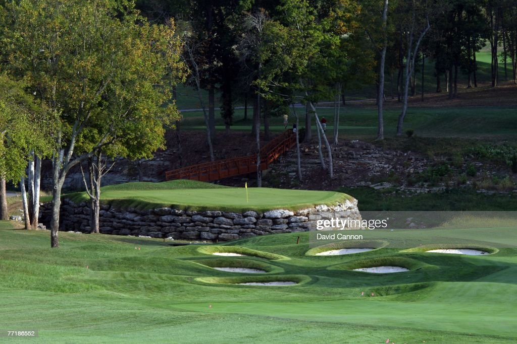 The par 4 13th hole at Valhalla Golf Club venue for the 2008 Ryder Cup Matches on October 2 2007 in Louisville Kentucky