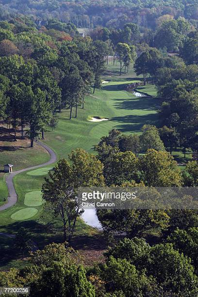 The par 4 15th hole at Valhalla Golf Club venue for the 2008 Ryder Cup Matches on October 4 2007 in Louisville Kentucky