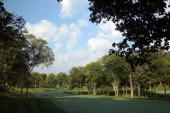 The par 4 16th hole at Valhalla Golf Club venue for the 2008 Ryder Cup Matches on October 2 2007 in Louisville Kentucky