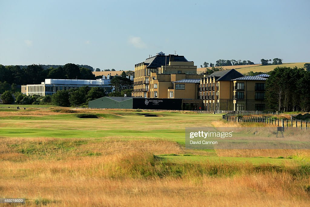 The par 4 16th hole on the Old Course at St Andrews venue for The Open Championship in 2015 on July 29 2014 in St Andrews Scotland