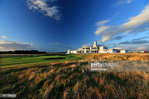 The par 4 18th hole at The Royal Birkdale Golf Club on August 23 in Southport Merseyside England