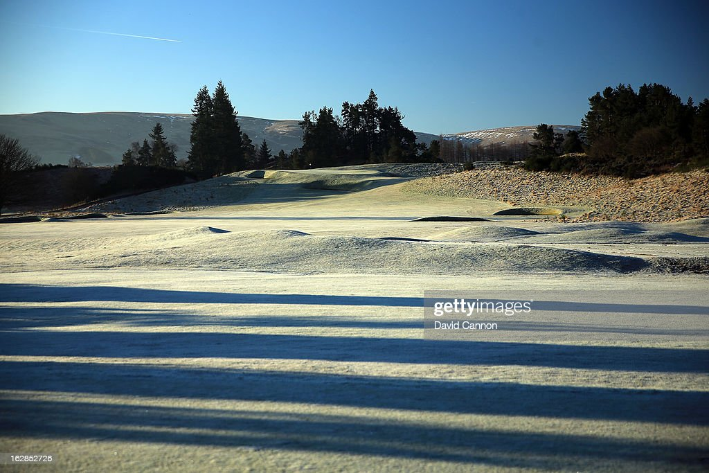 The par 4, 1st hole on the Kings Course at the Gleneagles Hotel on February 27, 2013 in Auchterarder, Scotland.