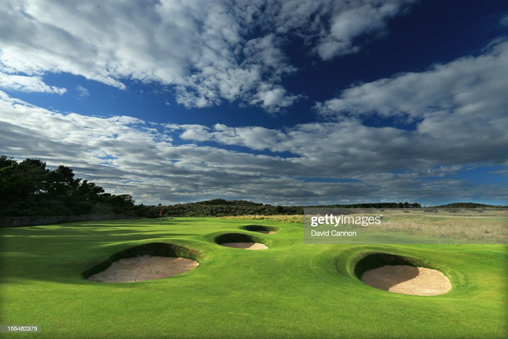 The par 4 2nd hole at The Honourable Company of Edinburgh Golfers at Muirfield on August 31 in Gullane Lothian Scotland
