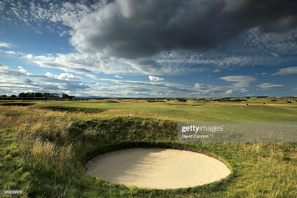 The par 4, 2nd hole 'Dyke' on the Old Course at St Andrews venue for The Open Championship in 2015, on July 29, 2014 in St Andrews, Scotland.