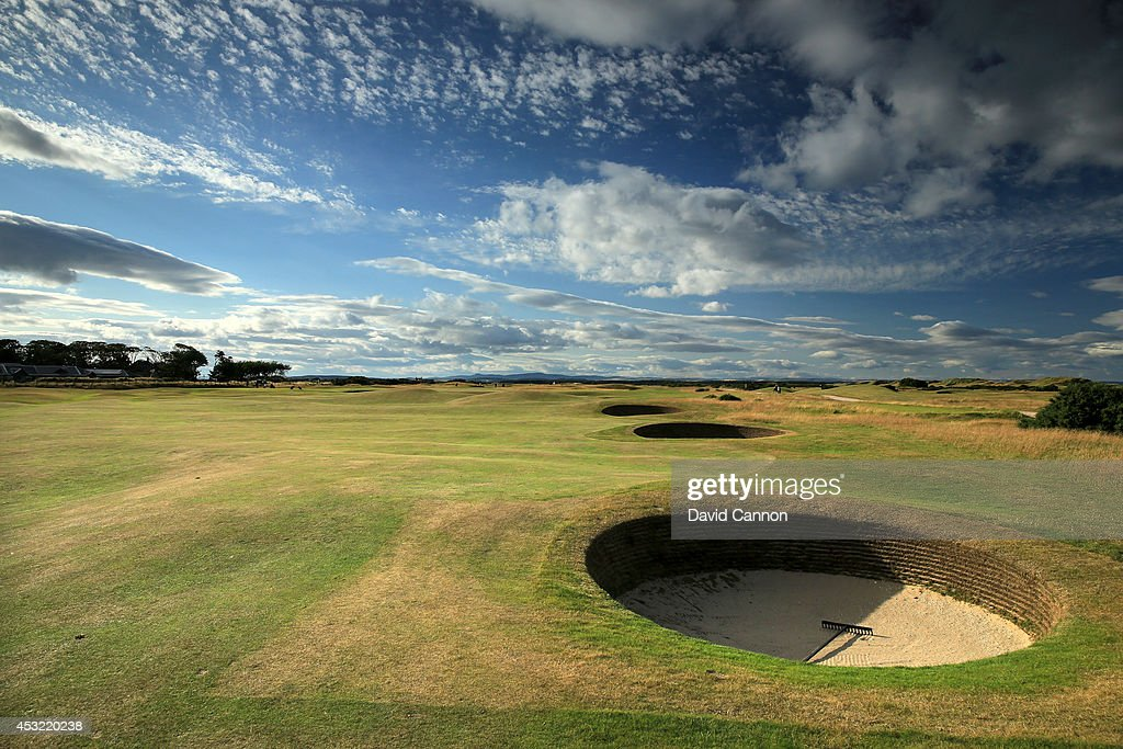 The par 4, 3rd hole 'Cartgate Out' on the Old Course at St Andrews venue for The Open Championship in 2015, on July 29, 2014 in St Andrews, Scotland.