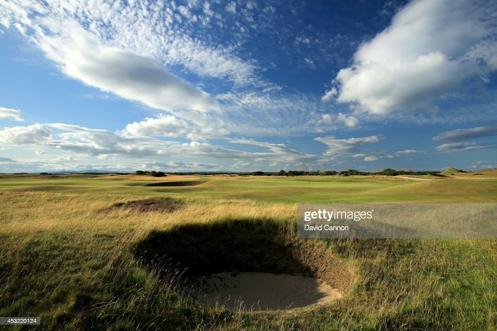 The par 4, 4th hole 'Ginger Beer' on the Old Course at St Andrews venue for The Open Championship in 2015, on July 29, 2014 in St Andrews, Scotland.