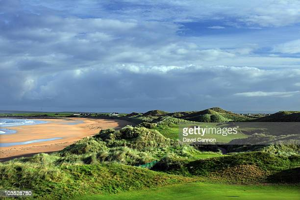 The par 4 6th hole at Doonbeg Golf Club on August 18 2010 in Doonbeg Co Clare Republic of Ireland