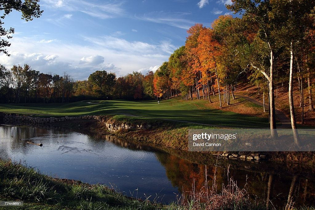 The par 4 6th hole at Valhalla Golf Club is previewed for the 2008 Ryder Cup at Valhalla Golf Club on October 22 2007 in LouisvilleKentucky