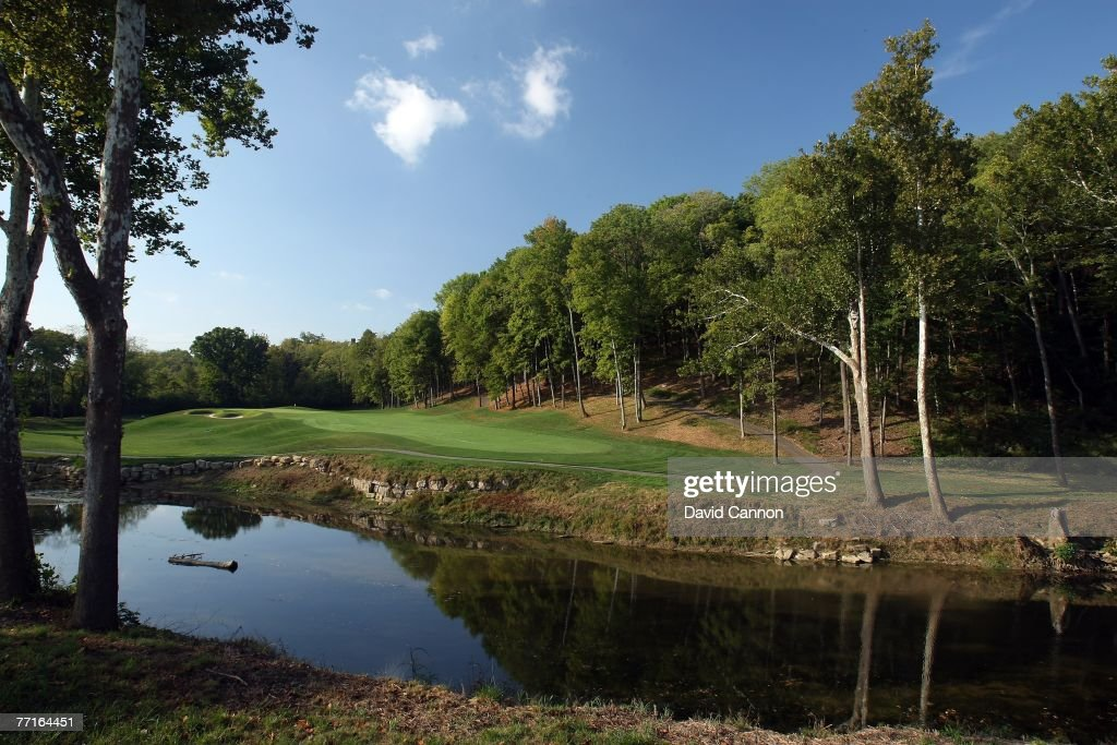The par 4 6th hole at Valhalla Golf Club venue for the 2008 Ryder Cup Matches on October 2 2007 in Louisville Kentucky