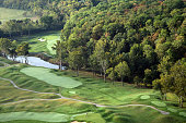 The par 4 6th hole at Valhalla Golf Club venue for the 2008 Ryder Cup Matches on October 4 2007 in Louisville Kentucky