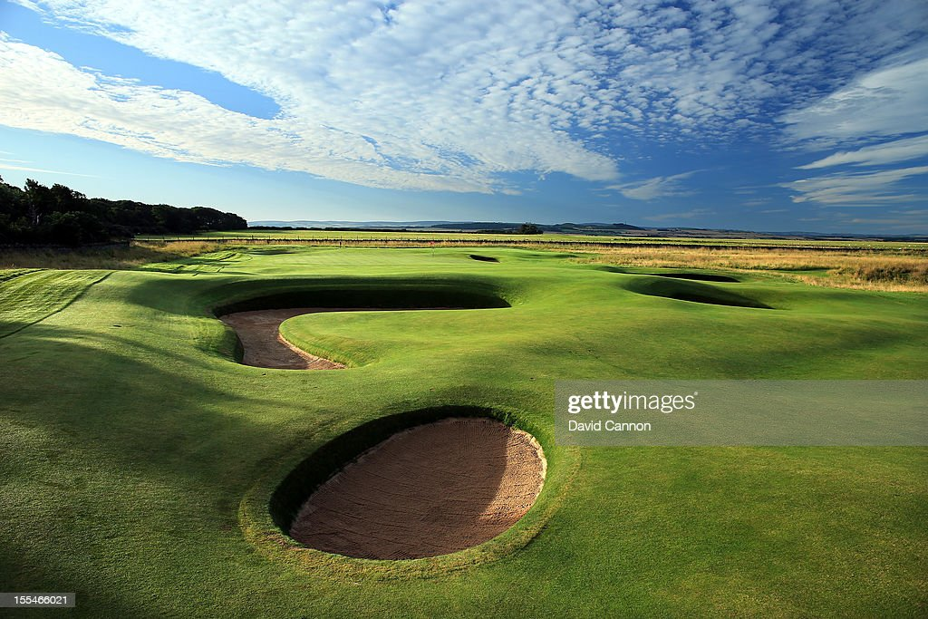 The par 4 8th hole at The Honourable Company of Edinburgh Golfers at Muirfield on August 31 in Gullane Lothian Scotland