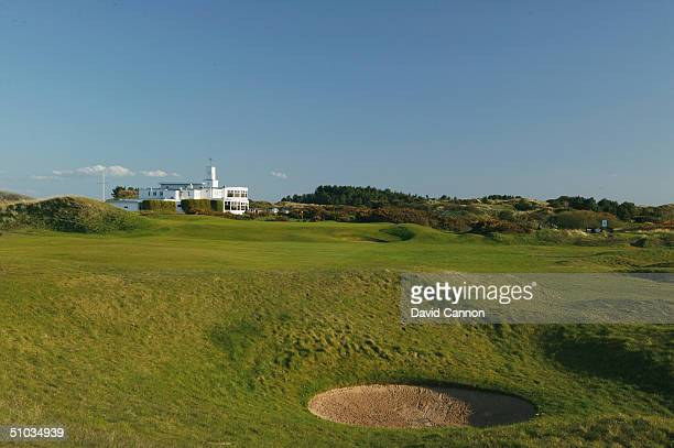 The par 4 9th hole at Royal Birkdale Golf Club on April 21 2004 in Birkdale England