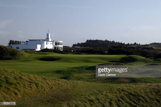 The par 4 9th hole at Royal Birkdale Golf Club venue for the 2008 Open Championship on October 9 2007 in Southport England