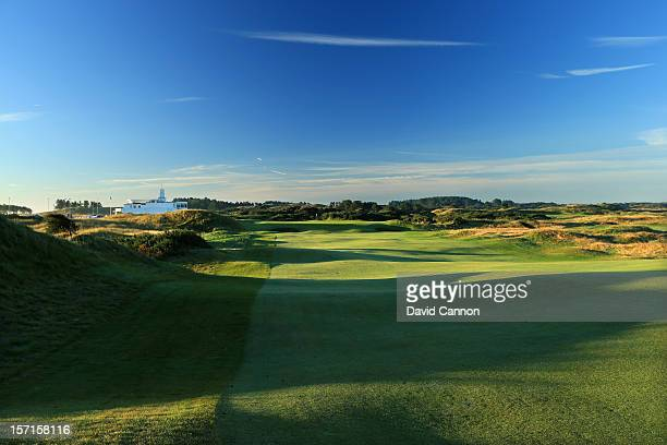The par 4 9th hole at The Royal Birkdale Golf Club on September 22 in Southport Merseyside England