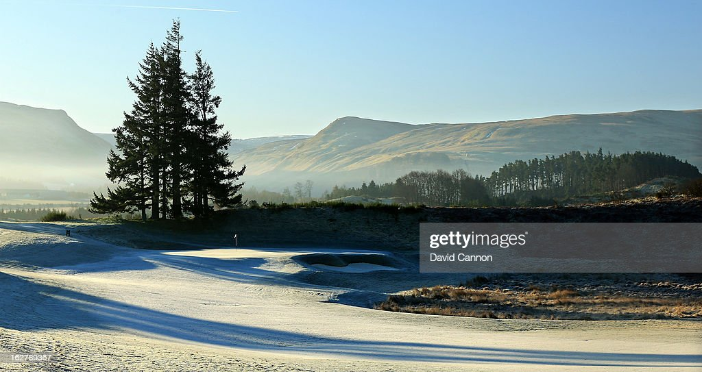 The par 4, first hole on the Centenary Course at the Gleneagles Hotel venue for the 2014 Ryder Cup Matches on February 27, 2013 in Auchterarder, Scotland.